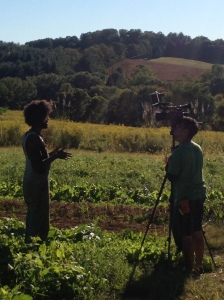 Interview in the field.